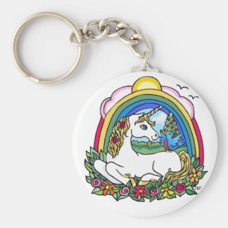 Unicorn & Rainbow Keychain