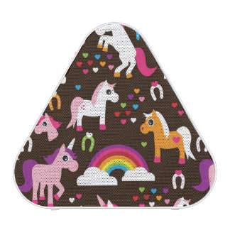 unicorn rainbow kids background horse bluetooth speaker