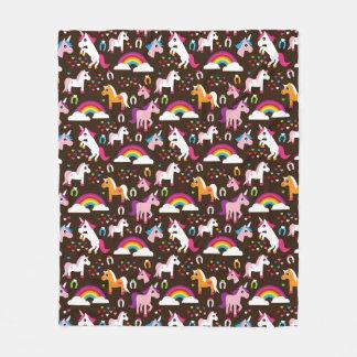 unicorn rainbow kids background horse fleece blanket