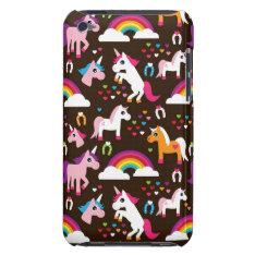 Unicorn Rainbow Kids Background Horse Ipod Touch Case at Zazzle