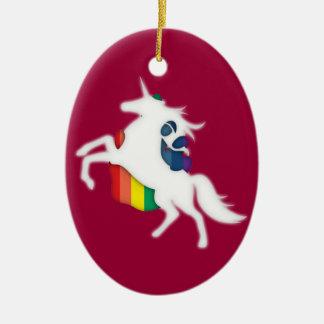Unicorn Rainbow Ornament