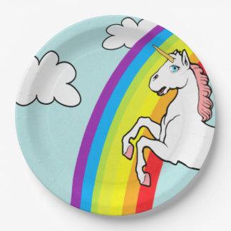 Unicorn Rainbow Paper Plate