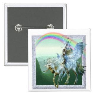 Unicorn Rainbow Pinback Button
