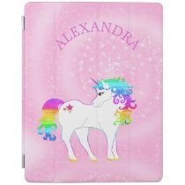 Unicorn Rainbow Pink Cute Customized iPad Smart Cover