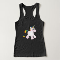 Unicorn Rainbow Poop - Cute Tank Top Vest Top