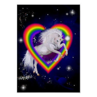Unicorn Rainbow Poster