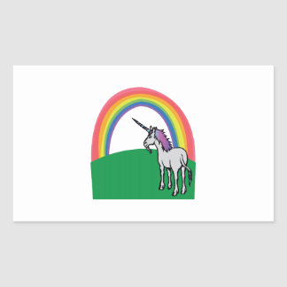 Unicorn Rainbow Rectangular Sticker