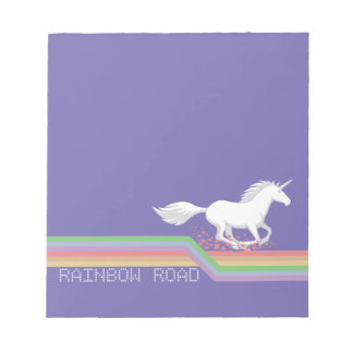 "Unicorn ""Rainbow Road"" Notepad"