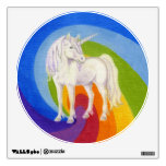 Unicorn Rainbow round wall decal 12x12