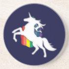 Unicorn & Rainbow Sandstone Coaster