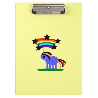 Unicorn Rainbow Star Clipboard