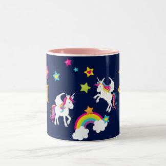 Unicorn Rainbow Stars. Fairy Tale Mug