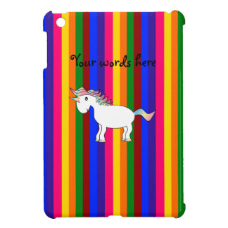 Unicorn rainbow stripes case for the iPad mini