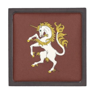 Unicorn Rampant Keepsake Box