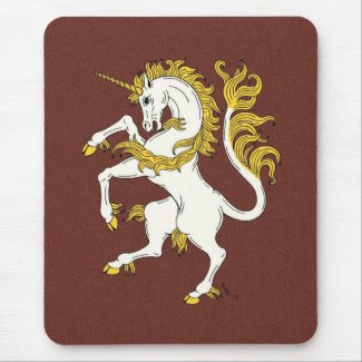 Unicorn Rampant Mouse Pad