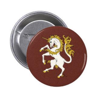 Unicorn Rampant Pinback Button