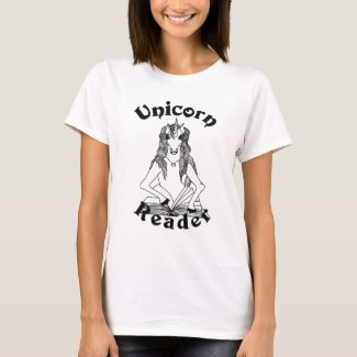 Unicorn Reader Basic Women's Tee - Black Logo