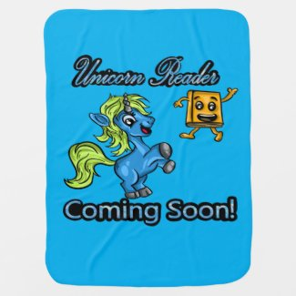 Unicorn Reader - Coming Soon Baby Blanket