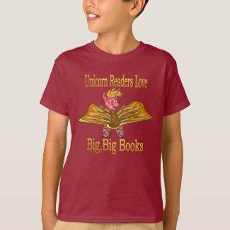 Unicorn Readers Love Big, Big Books Color Tee