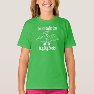 Unicorn Readers Love Big, Big Books - WL T-Shirt