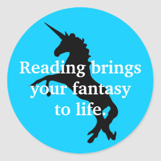 Unicorn Reading Sticker