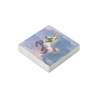 Unicorn Refrigerator Magnet (Burnt Blue)