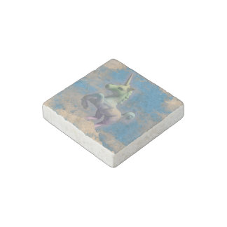 Unicorn Refrigerator Magnet (Sandy Blue)