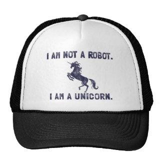 Unicorn Retro Dark Blue Mesh Hats