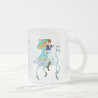 Unicorn riders 10 oz frosted glass coffee mug