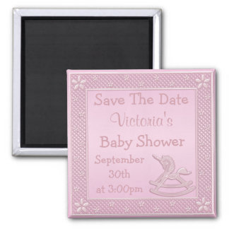 Unicorn Rocking Horse Save the Date Baby Shower Magnet