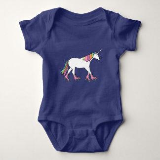 Unicorn Rollerskating Baby Bodysuit