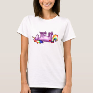 Unicorn Rolling on the Floor Laughing T-Shirt