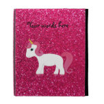 Unicorn rose pink glitter iPad case