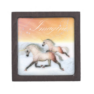 Unicorn run Imagine trinket box
