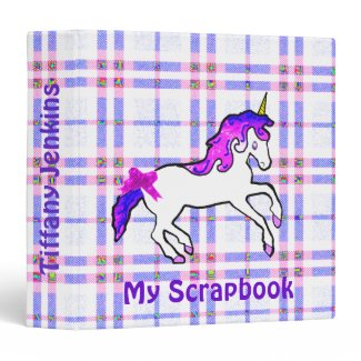 Unicorn scrapbook binder