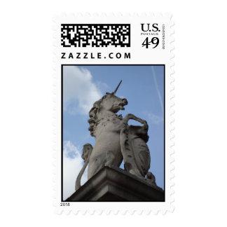 Unicorn sculpture stamp