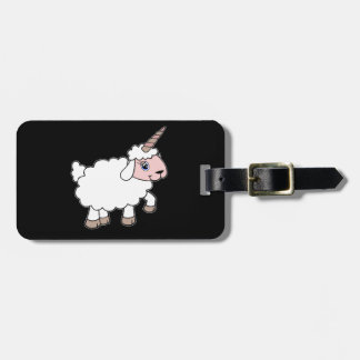 Unicorn sheep bag tag