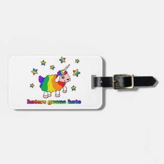 Unicorn sheep luggage tag