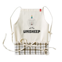 Unicorn Sheep Unisheep Z4txe Zazzle HEART Apron