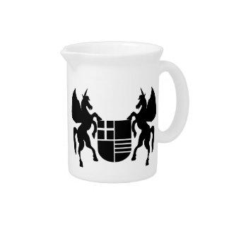 Unicorn & Shield Beverage Pitchers