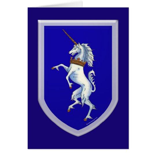 Unicorn Shield Card