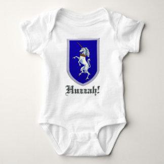 Unicorn Shield Huzzah Baby Bodysuit
