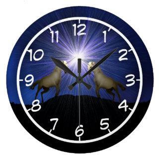 Unicorn shine large clock