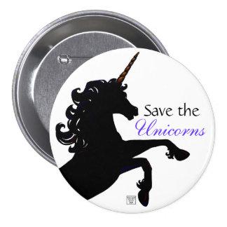 Unicorn Silhouette 3 Inch Round Button
