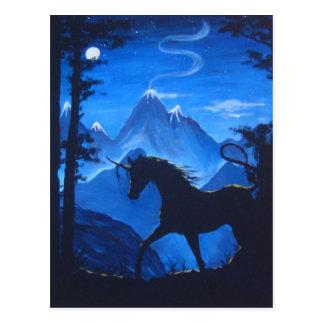 Unicorn silhouette postcard
