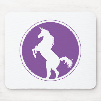 Unicorn Silhouette Purple Mouse Pad