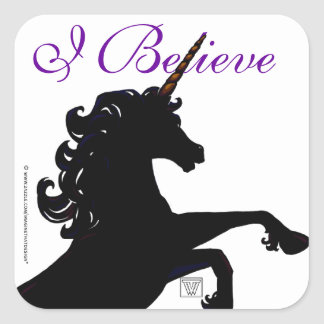 Unicorn Silhouette Square Sticker