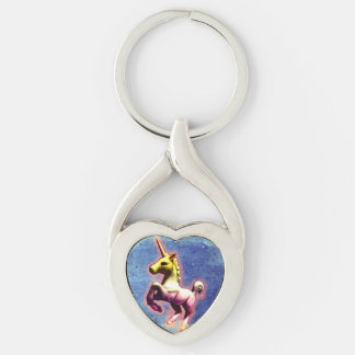 Unicorn Silver Keychain (Galaxy Shimmer)