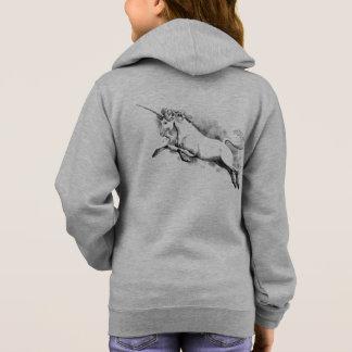 unicorn sketch fantasy art story trendy fashion hoodie