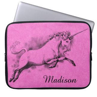 unicorn sketch fantasy art story trendy fashion laptop sleeve